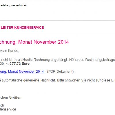 Phishing-Mail November 2014