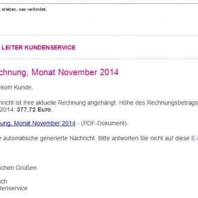 Phishing-Mail November 2014