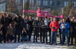 Vorführung erster 5G-Drohnenflug