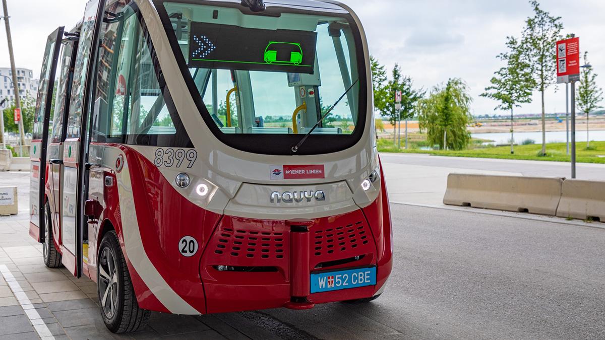 Selbstfahrende Busse in Aspern: Wien fährt eine autonome Linie