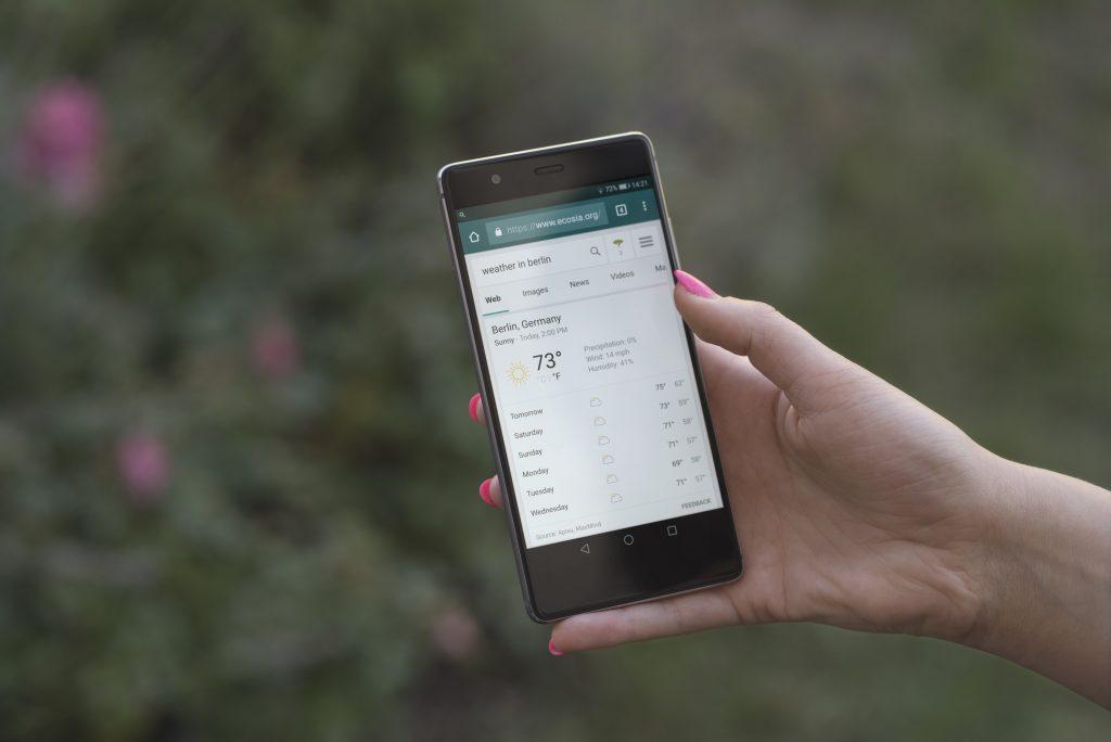 Ecosia am Smartphone