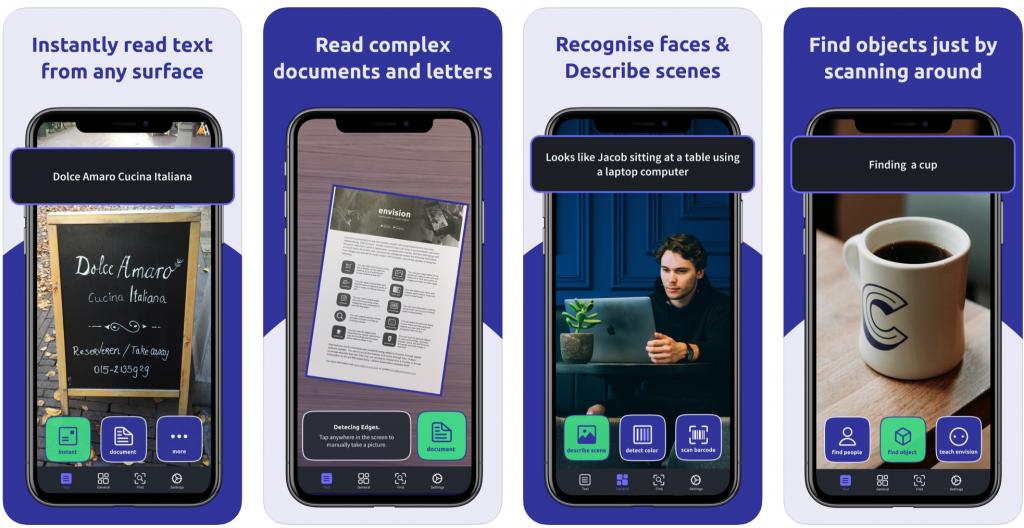 Anwendungsbeispiele der Applikation Envision AI