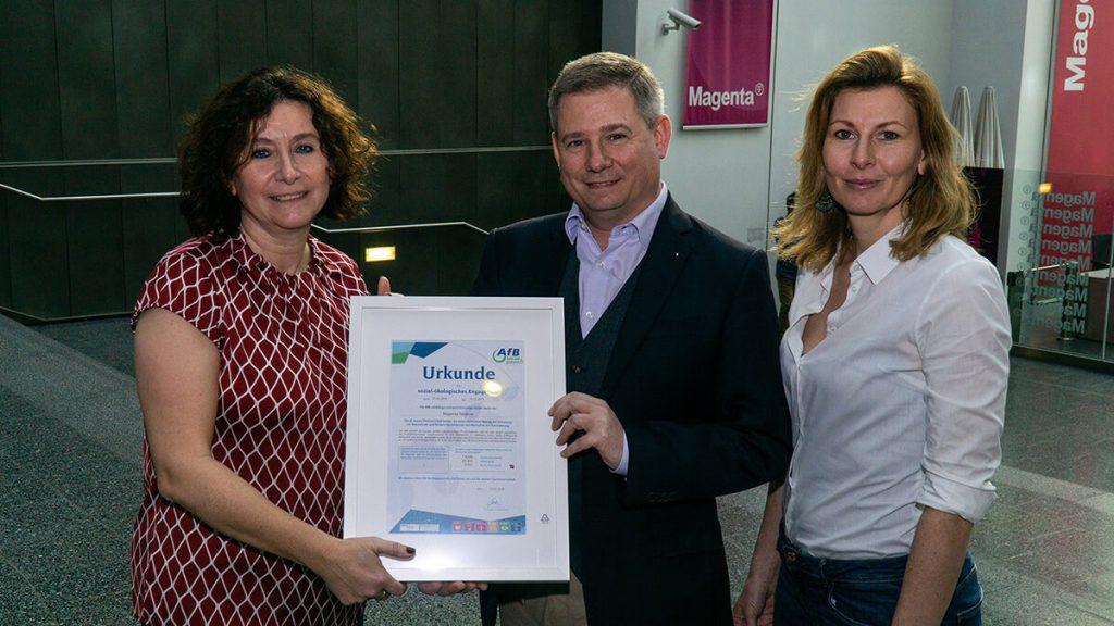 Urkunde für PC Recycling bei Magenta Telekom
